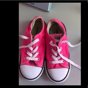 Bright Pink Girls converse size 10